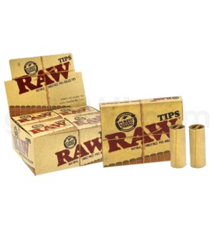 Raw Natural Unrefined Pre Rolled Tips 20CT/BX