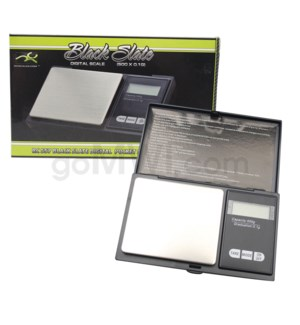 DISC Black Slate 500g x 0.1g Pocket Scales