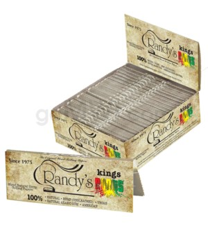 Randy's Roots King Organic Hemp Wired Papers 24pk 25ct/bx
