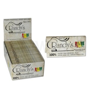 "Randy's Roots 1 1/4"" Organic Hemp Wired Papers 24/PK 25BX/CS"