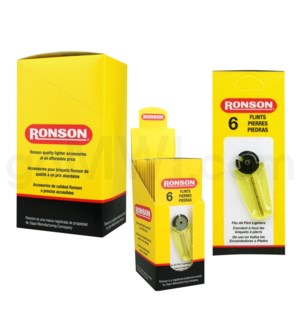 Ronson Flints 6/pack 12CT/BX