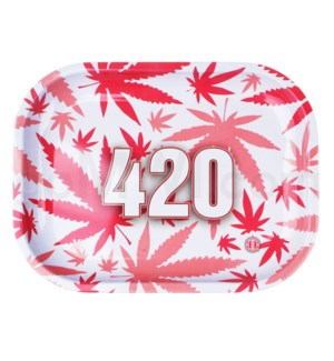 V Syndicate 5x7in Mini Rolling Tray- 420 Pink