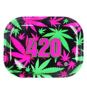 V Syndicate 5x7in Mini Rolling Tray- 420 Retro
