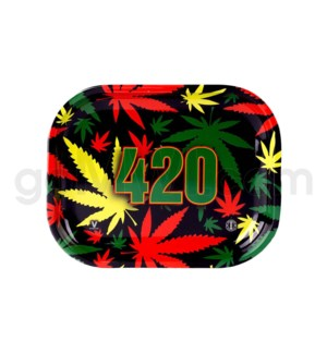 V Syndicate 5x7in Mini Rolling Tray- 420 Rasta