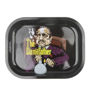 Smoke Arsenal 5x7in Mini Rolling Tray-Dank Father