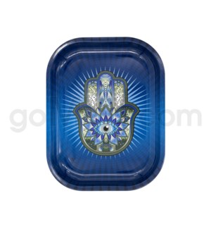 V Syndicate 5x7in Mini Rolling Tray - Hamsa Blue