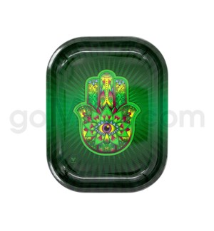 V Syndicate 5x7in Mini Rolling Tray - Hamsa Green