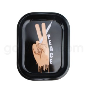 Smoke Arsenal 5x7in Mini Rolling Tray- Peace
