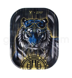 V Syndicate 5x7in Mini Rolling Tray- Tiger First Metal