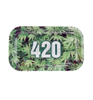 V Syndicate 11x7in Medium Rolling Tray- 420 Green