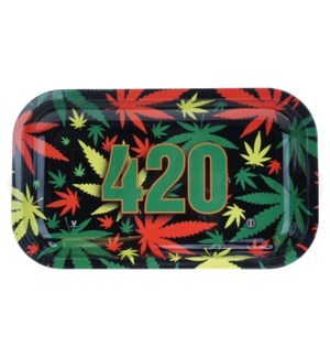 V Syndicate 11x7in Medium Rolling Tray- 420 Rasta