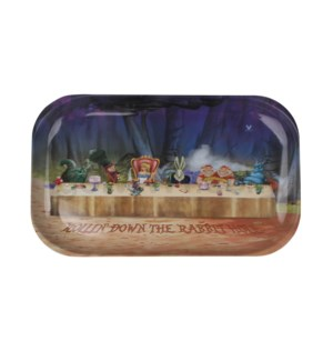 V Syndicate 11x7in Medium Rolling Tray-Alice Tea Party