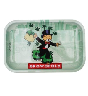 Smoke Arsenal 11x7in Medium Rolling Tray- Growopoly