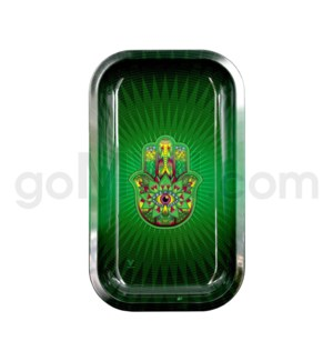 V Syndicate 11x7in Medium Rolling Tray- Hamsa Green