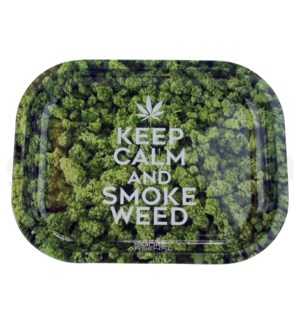 Smoke Arsenal 11x7in Medium Rolling Tray-Keep Calm