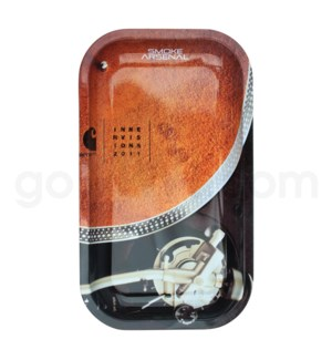 Smoke Arsenal 11x7in Medium Rolling Tray- Turntable