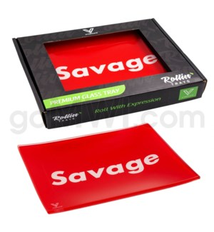 V Syndicate 5x7in Small Glass Rolling Tray- Savage