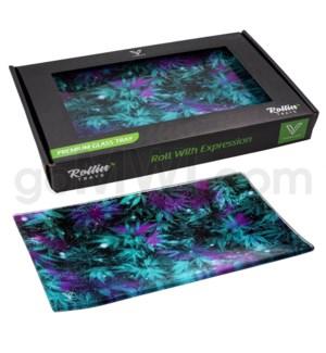 V Syndicate 10x7in Medium Glass Rolling Tray- Cosmic Chronic