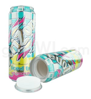 Safe Can Arizona Lemon Flavored Iced Tea