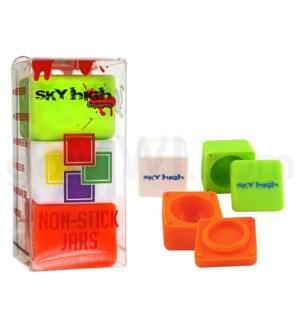 "Sky High Squares 1.2"" (3pk-Slime Green White Orange)"