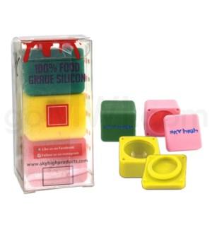 "Sky High Squares 1.2"" (3pk-Green Yellow Pink)"