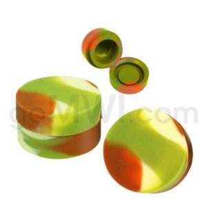"""1.25"""" 6ml Silicone Container Camo Swirls"""