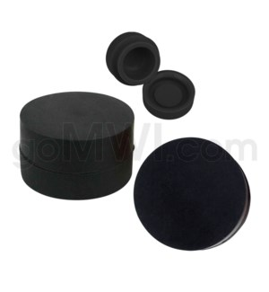 """1.25"""" 6ml Silicone Container Solid Black"""