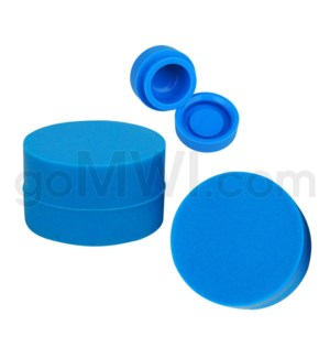 """1.25"""" 6ml Silicone Container Solid Blue"""