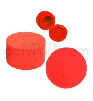 """1.25"""" 6ml Silicone Container Solid Red"""