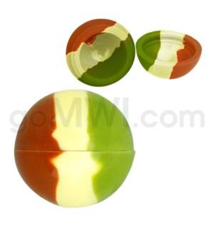 "1.5"" Silicone Sphere Containers Camo Swirls"