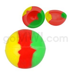 "1.5"" Silicone Sphere Containers Rasta Swirls"