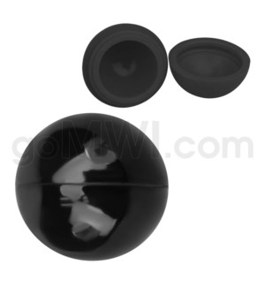 """1.5"""" Silicone Sphere Containers Solid Black"""