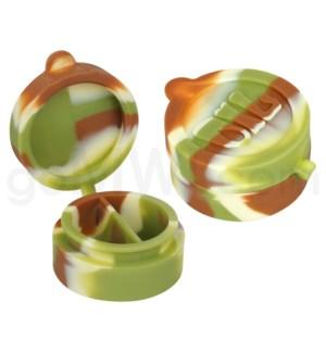 """1.5"""" Silicone Cosmetic Container Camo Swirls"""