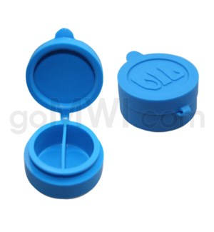 """1.5"""" Silicone Cosmetic Container Solid Blue"""