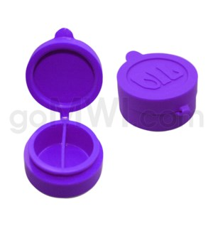 """1.5"""" Silicone Cosmetic Container Solid Purple"""