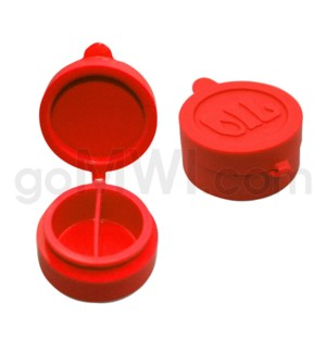 """1.5"""" Silicone Cosmetic Container Solid Red"""