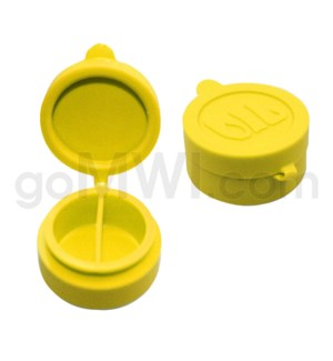 """1.5"""" Silicone Cosmetic Container Solid Yellow"""