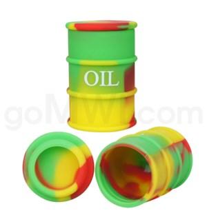"1.5"" Silicone Oil Barrel Rasta Swirls"