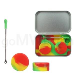 Silicone Tin Kit Set Rasta Swirls