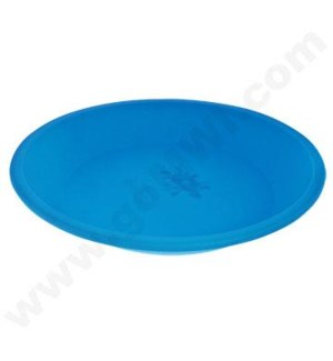 "DISC NoGoo Round Plate Silicone Container 8""-BLUE"