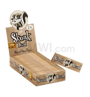 "Skunk Paper 1 1/4"" Genuine Hemp Rolling Paper 32/pk 25ct/bx`"