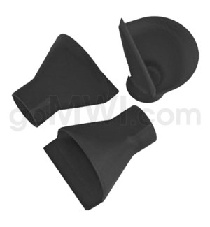 "1-1.5"" Plastic Scoop Cap - Black"