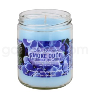 Smoke Odor Exterminator 13oz Candle Blue Serenity