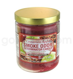 Smoke Odor Exterminator 13oz Candle Cinnamon Apple