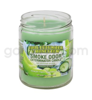 Smoke Odor Exterminator 13oz Candle Cool Cucumber &Honeydew