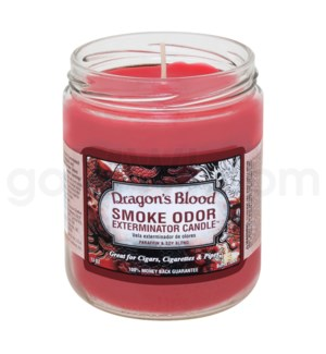 Smoke Odor Exterminator 13oz Candle Dragons Blood