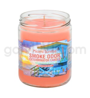 Smoke Odor Exterminator 13oz Candle Miami Sunrise