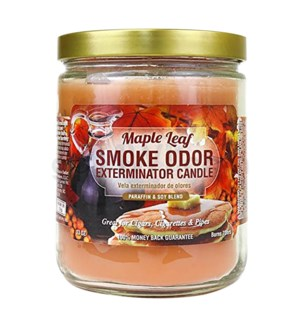 Smoke Odor Exterminator 13oz Candle Maple Leaf