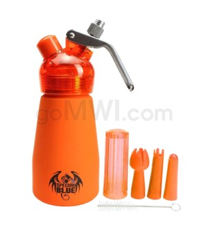 Special Blue Aluminum Suede Dispenser 0.25L-1/2PT Orange