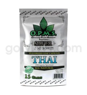 OPMS Kratom 15g Silver Thai 30ct